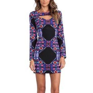 Mara Hoffman 2 black cut out long sleeve dress